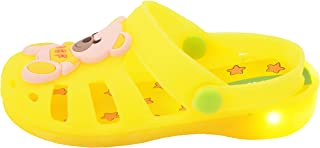 Yellow Bee Boys Teddy LED Clogs, Yellow