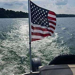 Removable Pontoon Boat Flag Holder