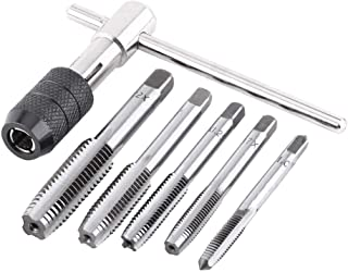 6PCS/Set Metric Screw Tap Wrench & T-shaped Tap and Die Set Threading Tapping Hand Tool Kit