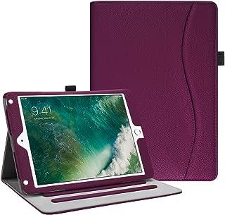 Fintie iPad 9.7 2018 2017 / iPad Air 2 / iPad Air Case - [Corner Protection] Multi-Angle Viewing Folio Cover w/Pocket, Auto Wake/Sleep for Apple iPad 6th / 5th Gen, iPad Air 1/2, Purple