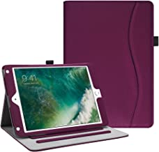 Fintie iPad 9.7 2018 2017 / iPad Air 2 / iPad Air Case - [Corner Protection] Multi-Angle Viewing Folio Cover w/Pocket, Auto Wake/Sleep for Apple iPad 6th / 5th Gen, iPad Air 1/2, Purple