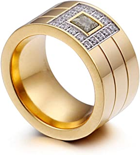 Women's Delicate Diamond Micro-Inlay Stainless Steel Rings Gift Band