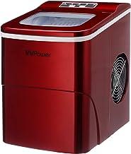 MVPOWER Machine à Glaçons, Machine a Glace Acier Inoxydable Faible bruit avec Réservoir 2L, 2 Tailles de Glace,9 Glaçons p...
