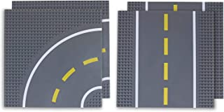"""Strictly Briks Road Baseplates 10"""" x 10"""" Building Brick Base Plate 100% Compatible with All Major Brands 