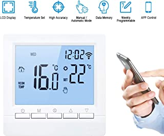 Eookall Smart Thermostat,Wi-Fi Smart Thermostat Digital Temperature Controller APP Control LCD Display Week Programmable E...