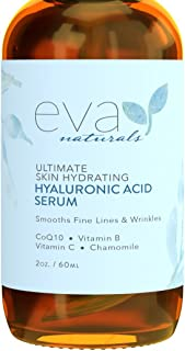 Best Eva Naturals Hyaluronic Acid Face Serum - Anti-Aging, Moisturizing Wrinkle Serum with Vitamin C, B - 2 oz. Review