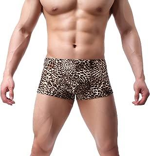 K-Men Sexy Men's Low Waist Bamboo Thong Leopard Underwear