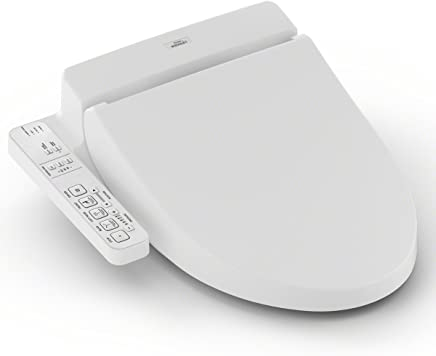 Toto SW2034#01 C100 Washlet Asiento de inodoro electrónico con prerocío, alargado, algodón blanco, Alargado, Algodón blanco