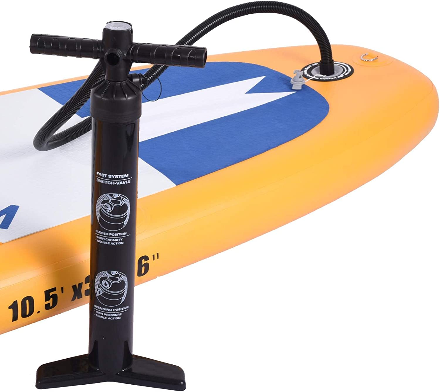 Wisson Inflatable Stand Up Paddle Board Kit Carry Backpack Inflator Pump Waterproof Dry Bag Repair Kit