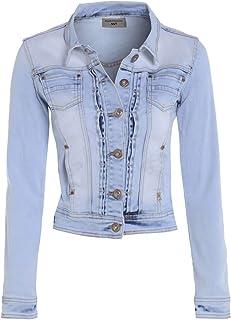 SS7 Femmes Indigo Denim Veste Femme Bleu Jean Pantacourt Vestes Taille 34-42