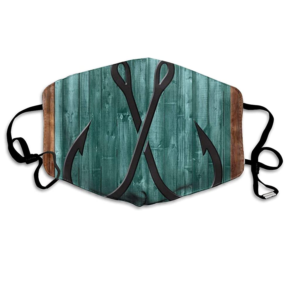 Whages Vintage Nautical Anchor Abstract Painting Symbol Wooden Frame Washable Reusable Safety Breathable Mask, 4.3