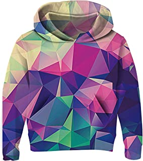 Unisex Hoodies for Kids 3D Prints Sweatshirts Pullover with Pocket for 3-14 Years