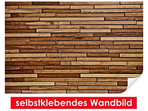 XXL behang zelfklevende muurschildering Wood Panel – gemakkelijk te plakken – muurprint, wallpaper, posters, vinylfolie met puntlijm voor muren, deuren, meubels en alle gladde oppervlakken van trendy muren 90x60cm