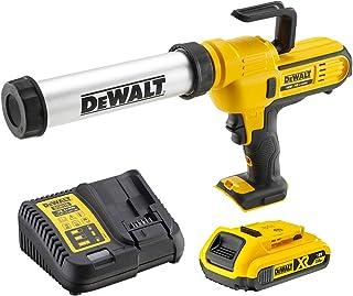 DeWalt DCE571D1-QW Caulk Gun, 18 V, Yellow/Black
