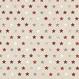 Fabulous Fabrics Halbpanama Gold, Weihnachten, 140cm