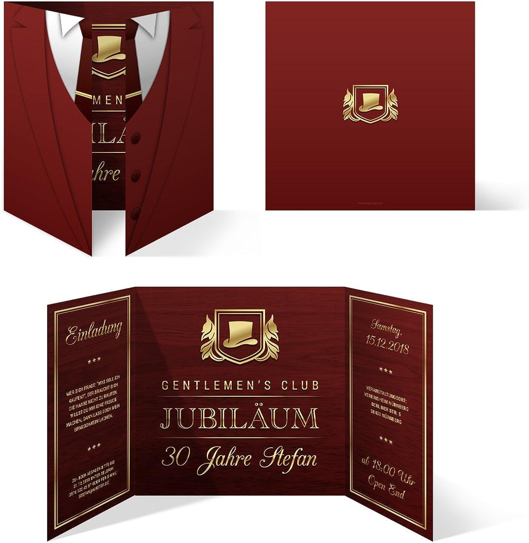 50 x x x Geburtstag Einladungskarten Einladung Karten Altarfalz 148mm - Gentleherren Club B078J579X5 | Passend In Der Farbe  7ccd0b