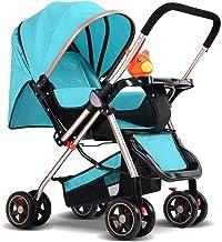 MU Sillas de paseo cómodas Baby Push Lite Shopper Neo Asas ajustables Silla de paseo Cochecito de bebé Edad 18 meses - 3 años,Azul