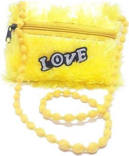 Baby Girl's Plush Shoulder Bag Child Plush Coin Purse Little Girl Shoulder Cross Body Sling Bag for Girls ,Baby Gift.