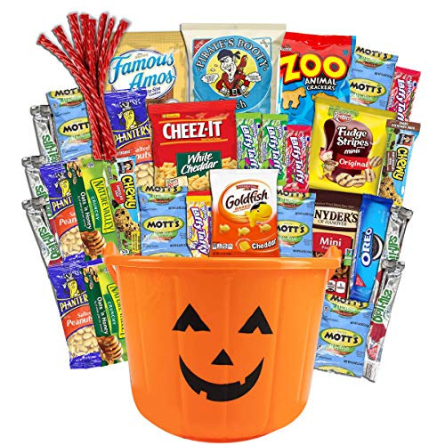 Halloween Care Package (38) Candy Snacks Assortment Trick or Treat Cookies Food Bars Toys Variety Gift Pack Box Bundle Mixed Bulk Sampler for Children Kids Boys Girls College Students Office