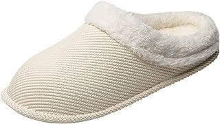 Kiyotoo - Zapatillas de casa para Mujer, de Espuma viscoelástica, algodón, para Interiores y Exteriores, cálidas, con Forro de Piel