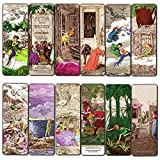 Fairy Tales Peter and Wendy Bookmarks Cards (12-Pack) - Awesome Bookmarker for Men Women Teens Kids – Vintage Unique Art – Book Club Stocking Stuffers