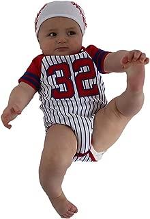 Sozo Baby-Boys Newborn Baseball Bodysuit And Cap Set