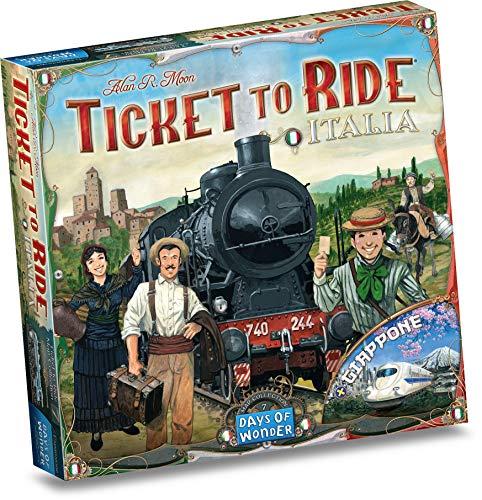 Asmodee: Ticket to Ride: Italia + Giappone, Espansione Gioco da Tavolo, Per Giocare è Necessario il Gioco Base Ticket to Ride o Ticket to Ride Europa, Edizione in Italiano (8507)