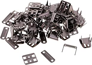 SM SunniMix 20 Sets No Sew Hooks and Eyes Closure Set for Trousers Skirt Clothes Accessories - Black Nickel