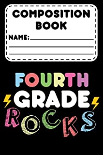 Composition Book Fourth Grade Rocks: Back To School Planner For 4th Grade Students, Class Schedule Organizer, Daily Diary for Things To Do, Assignments, & Reminders, Journal With Prompts