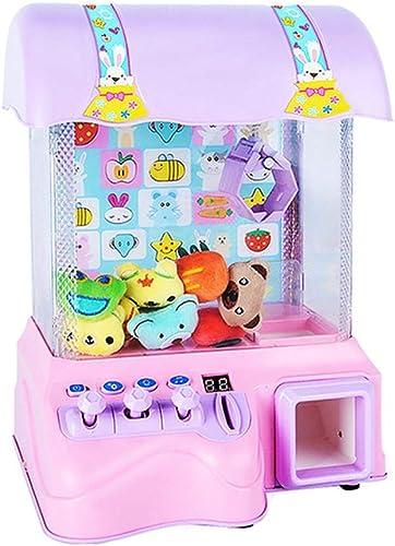 Depruies Mini-Fangpuppe für Kinder, Spielzeug, Haushalt Musik, Candy Clip, Spielzeug für den Innenbereich, ideal LED-Lichter, Mini-Krallenspielzeug, für Jungen und mädchen Rosa