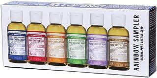 Dr. Bronner's Pure-Castile Soap Liquid (Hemp 18-in-1) Rainbow Sampler 59ml x 6 Pack