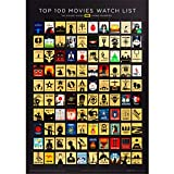 Official IMDb 100 Movies - Premium Scratch-off Poster w/ Professional Artwork