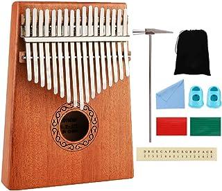 Tiamu 17 klawiszy kalimba kciuk fortepian palec fortepian zabawki muzyczne z młotkiem i książką muzyczną