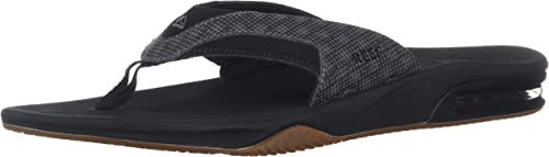 Reef Hommes's Fanning Prints Sandal, noir Hound, 12 Medium US