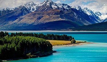 Pintura Painting By Numbers Adultos Tekapo Lake Nueva Zelanda Lienzo Para Colorear Imágenes Kits De Bricolaje Art Habitación Decoración Frameless 40X50Cm