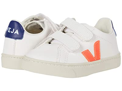 VEJA Kids Small Esplar Velcro (Toddler) (Extra White/Orange Fluo/Cobalt) Kid