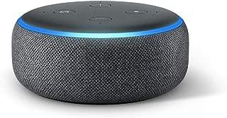 Echo Dot (3.ª generación) Reacondicionado Certificado - Altavoz inteligente con Alexa, tela de color antracita