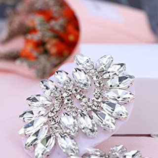 2 PCS Rhinestones-Trim-Applique Small Crystal Rhinestone for Dresses a Pair of Sequin Appliques for Rhinestone Applique Shoes