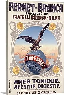 Fernet Branca, Amer Tonique, Vintage Poster Canvas Wall Art Print, 16