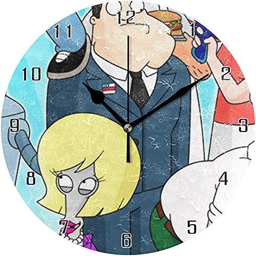 ALLdelete# Wall Clock Klassische Cartoon Die Simpsons Welt Runde Wanduhr Wohnkultur Uhr Batteriebetriebene Stille Nicht-Ticken Tischuhr Für Zuhause, Büro, Schule
