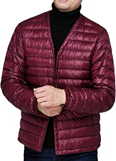 Howme Men Solid Color Lightweight Packable Puffer Quilted Down Coats