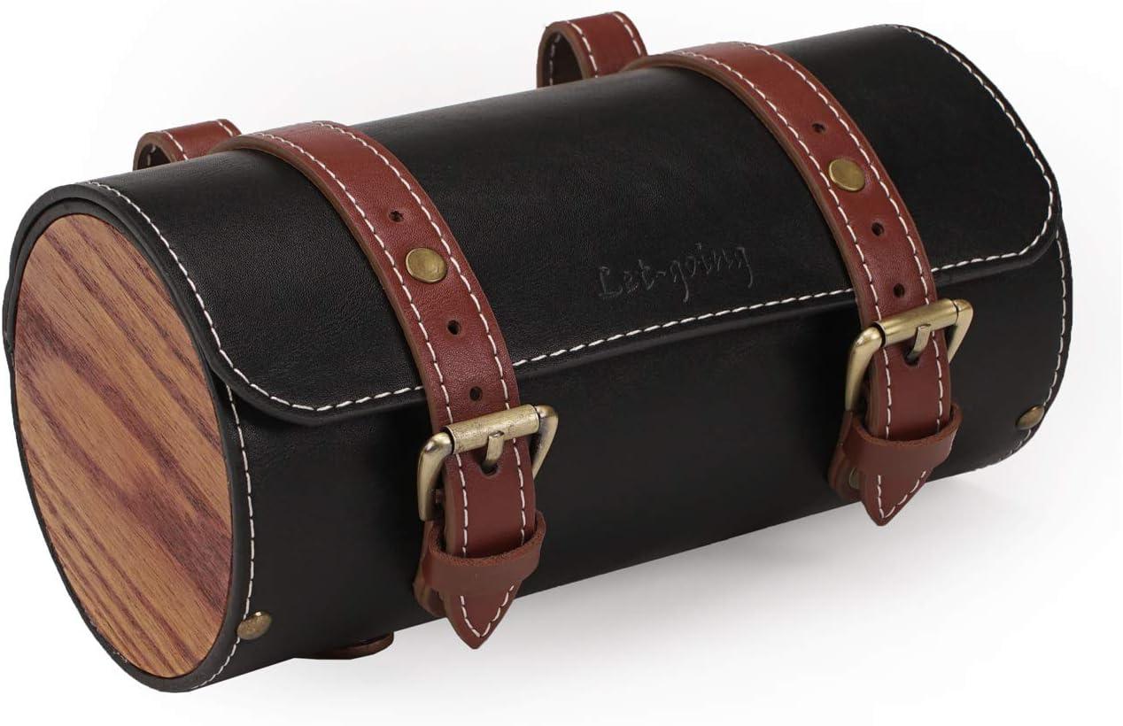 Vintage Bike Saddle Tail Purchase Bag New mail order Handlebar Leather