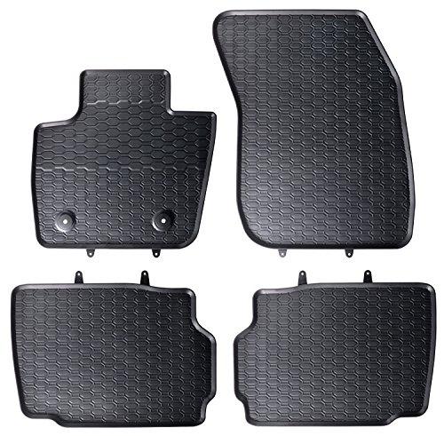 DAPA Prime Gummimatten Gummi Fußmatten Komplettset Schwarz perfekt passend mit Rand 1103946