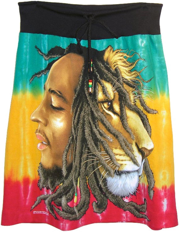 IDILVICE Womens Bob Marley Reggae Rasta Lion Skirt