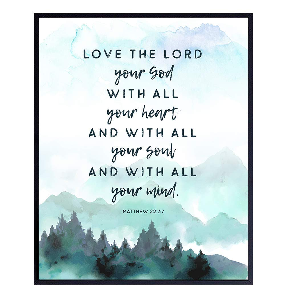 Bible Verse Wall Special Ranking TOP12 sale item Art - Religious the Decor Lord Love Sc