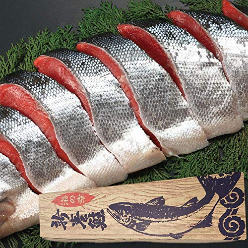 新巻鮭 一本物 化粧箱入り 2kg 最高級 メヂカ鮭 切り身 (3切れずつ真空包装)