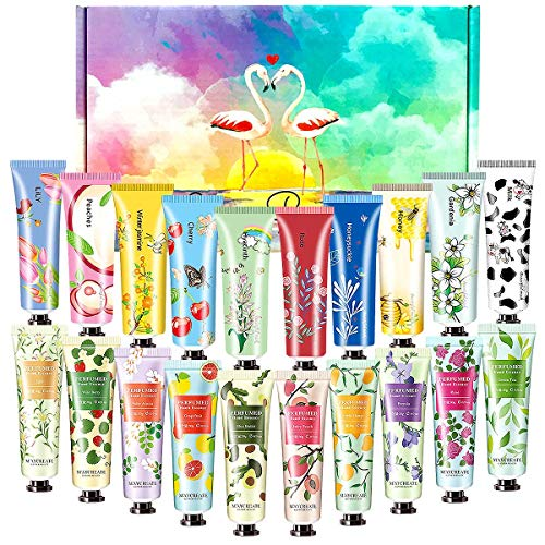 SmoBea Plant Fragrance Hand Cream, 20 x 30ml Mini Hand Cream Gift Set, Daily Moisturising Hand Cream Working Hands, Deeply Hydrating & Nourishing Non-Greasy Natural Aloe And Vitamin E