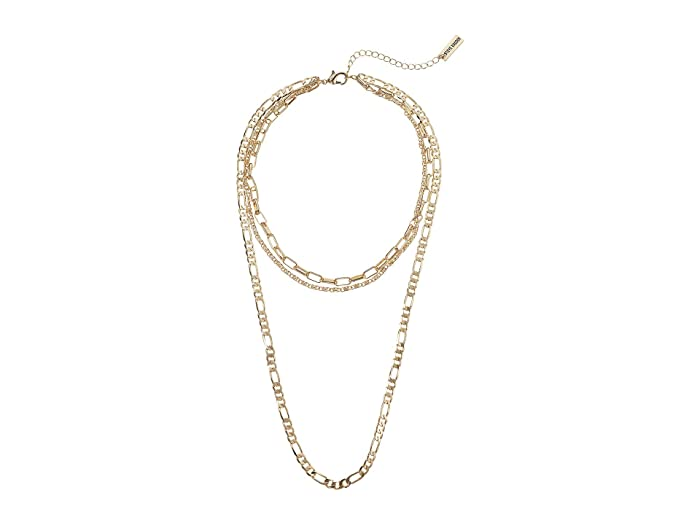 Steve Madden  Cable Chain Chain Three-Piece Necklace Set (Yellow Gold-Tone) Necklace