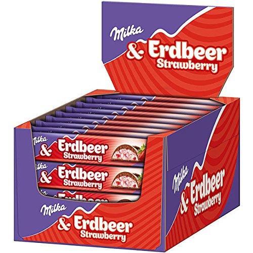 Milka Riegel Erdbeer, 36 Pack, 36 x 36.5g Riegel
