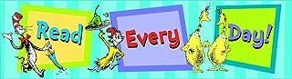 Eureka Dr. Seuss 'Read Every Day' - Decoración para aulas de regreso a la escuela, 30,5 x 10,7 cm